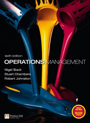 Operations Management sixth edition